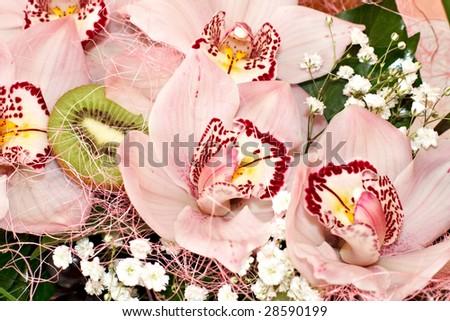 Decorative bouquet of orchids.