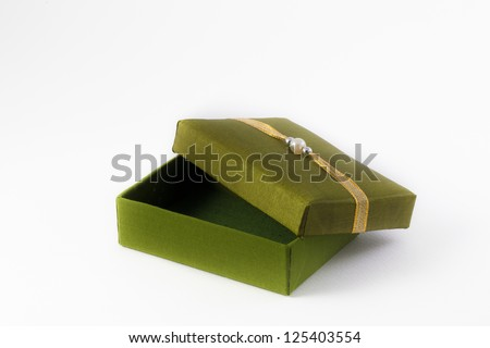 Decorative box made of Thai silk