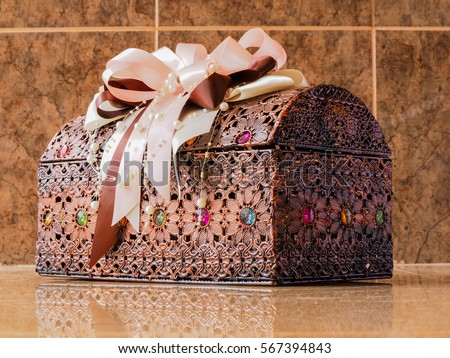 Shutterstock Decorative boxes dowry.