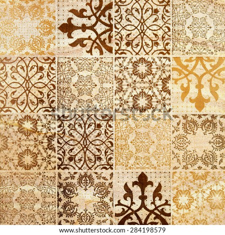 Decorative brown sand stone tile background