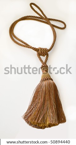 Decorative brush for curtains with cord