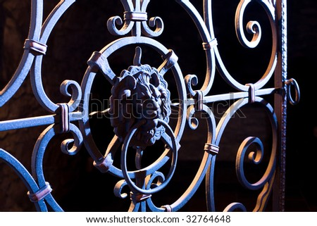 decorative cast-iron gates
