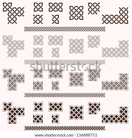 Decorative Celtic border elements