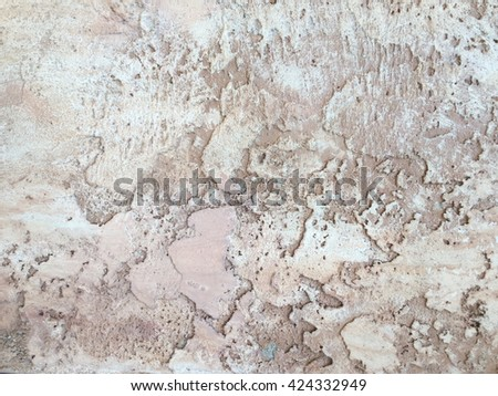 Decorative cement on a wall texture. #424332949