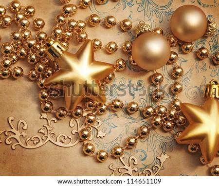 decorative christmas ornaments - stock photo