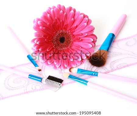 Decorative cosmetics and flower