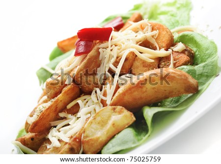 decorative country potatoes with cheese
