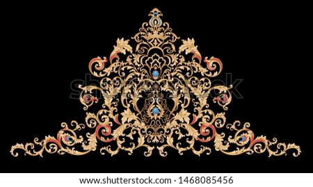 Decorative elegant luxury design.golden elements in baroque, rococo style.Design for cover, fabric, textile, wrapping paper . Сток-фото ©