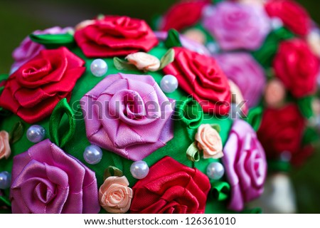 decorative fabric roses