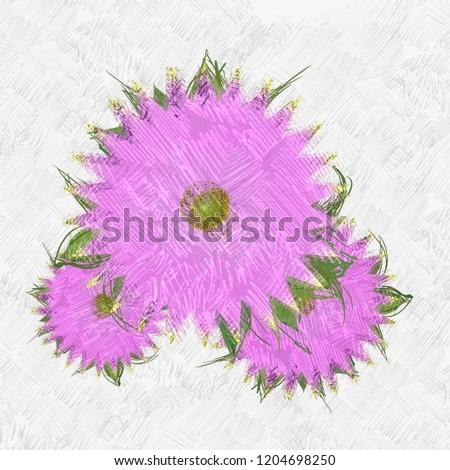 Decorative flower image. Floral Illustration. Vintage botanic artwork. Hand made drawing. #1204698250