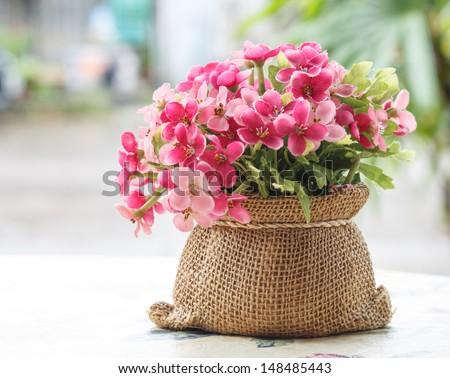Decorative flower on desk