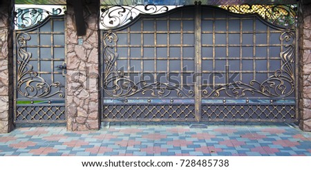 decorative  forged barrier ...