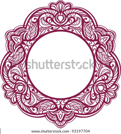 Decorative frame. Vintage ornamental element. raster version. - stock photo