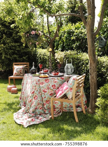 decorative garden seat style, beautiful weather and shiny #755398876