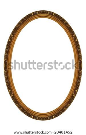 Decorative Gold Oval Frame