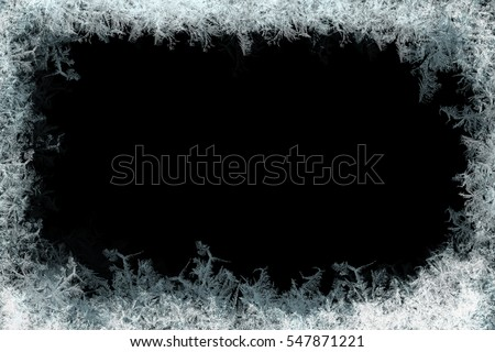decorative ice crystals on a...