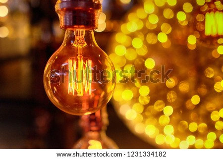 decorative incandescent lamps for interior housing, cafe, etc