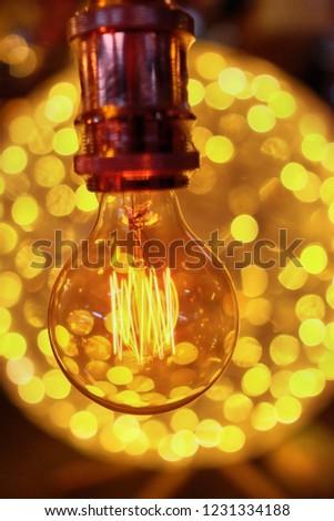 decorative incandescent lamps for interior housing, cafe, etc