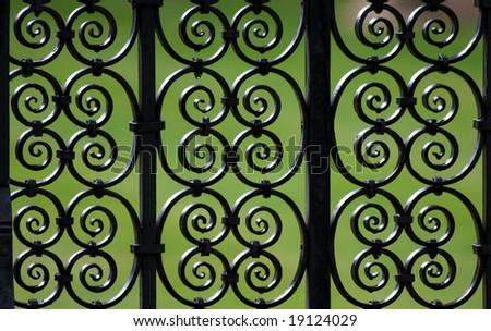 Decorative iron fence pattern (Cambridge, UK)