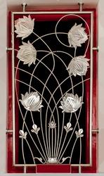 Decorative Iron flower bar on window
