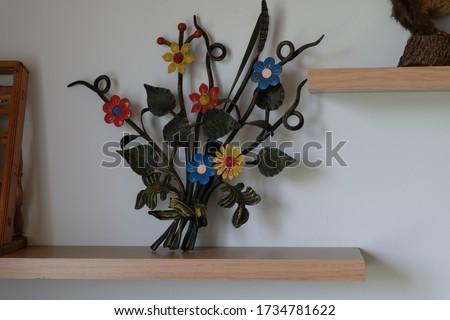 Decorative iron flowers ornament closeup Stok fotoğraf ©