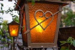 decorative lantern for gazebos and terraces wrought iron.