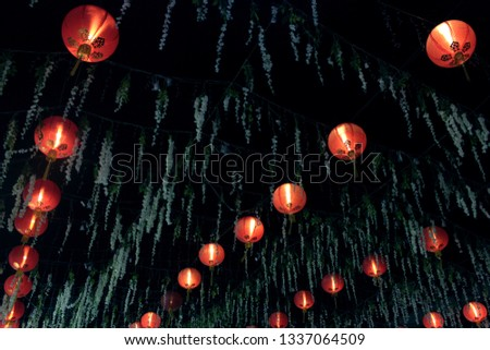 Decorative lantern. Lantern Festival.
