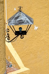 Decorative lantern on a wall in old town Acapulco, Guererro, Mexico