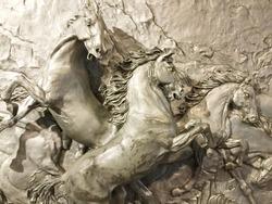 Decorative metal horse