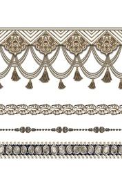 decorative metallic jewelry pearls borders