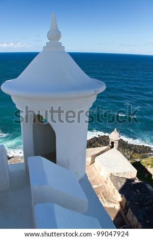 Decorative minaret on lighthouse at San Juan National Historic Sight, San Juan, Puerto Rico