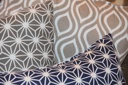 Decorative multicolored pillows in the home interior