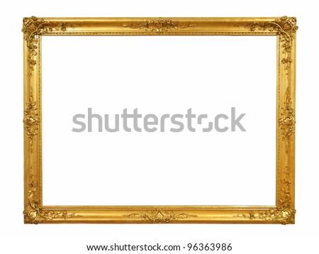 Decorative old golden picture frame