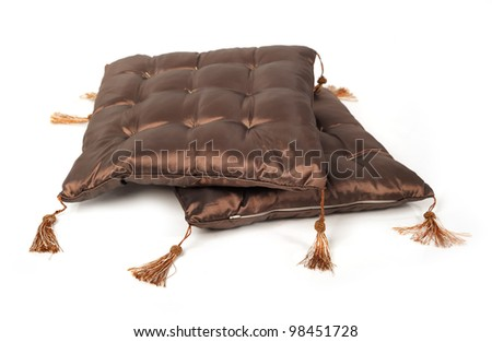 Decorative pillow isolated on white background