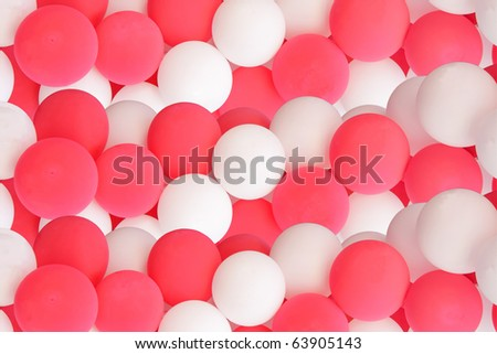 decorative pink and white balloons