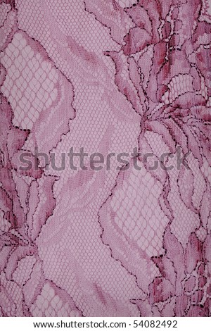Decorative purple lace with floral pattern