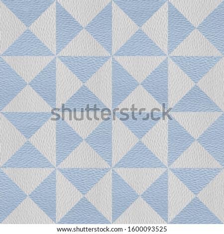 Decorative pyramids - coffered paneling - seamless background - granular white-blue surface