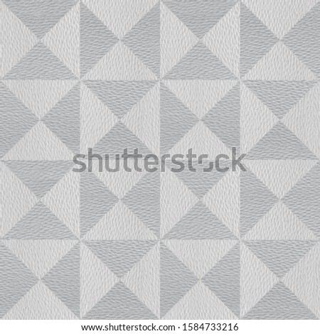 Decorative pyramids stacked for seamless background - coffered paneling - white-gray coloring