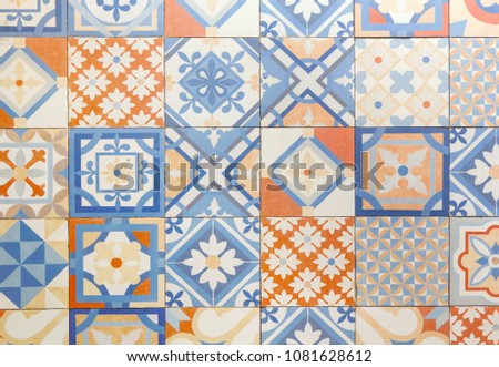 Decorative retro porcelain tiles