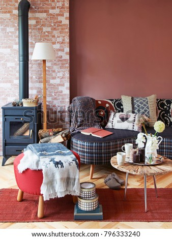 decorative room concept sofa and living room interior