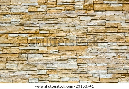 Decorative stone wall texture - stock photo