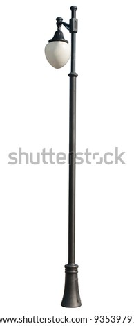 Decorative street lamp-post . isolated on white background.