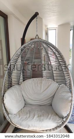 Decorative swing closeup in balcony Stok fotoğraf ©