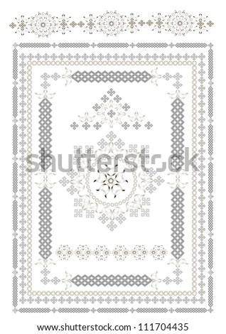 Decorative ta pis of oriental pattern Stock fotó ©