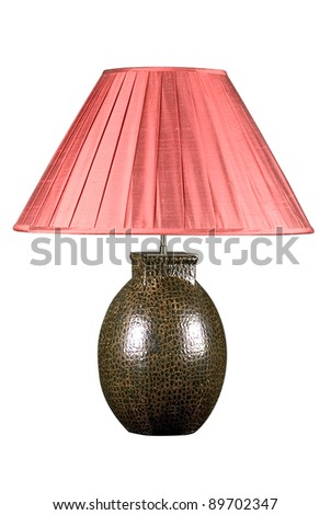 Decorative table lamp isolated on white background