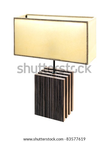 Decorative table lamp isolated with clipping path included