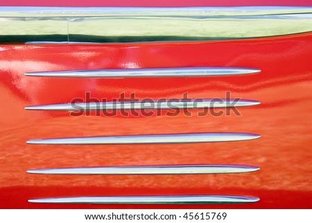 Decorative trim on a car side