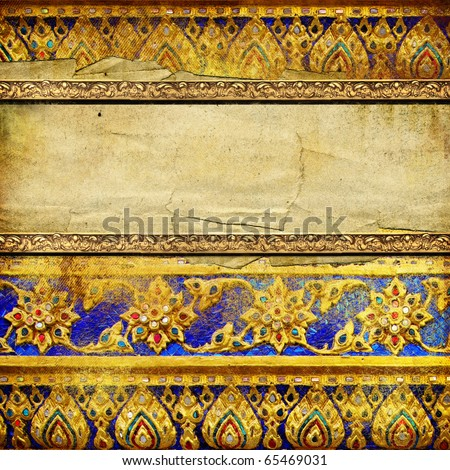 decorative vintage background in thai style with place for text