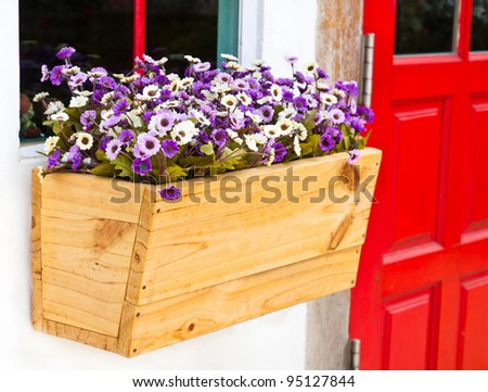 Decorative violet flower