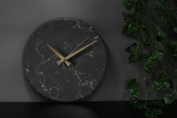 Decorative wall clock, black marble wall clock, natural granite stone , marbeling , elite wall clock , qualified and sophisticated